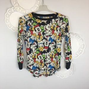 Disney Graphic Grunge Long Underwear Shirt Size S